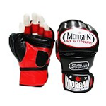 MORGAN PLATINUM GEL MMA HYBRID LEATHER BAG GLOVE $35 (AUD)